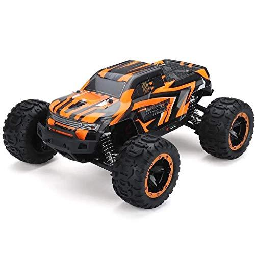 WGFGXQ 45 Km/H 1/16 Bigfoot Off-Road RC Vehicle, All-Terrain 4X4 Remote Control Car, Motor sin escobillas, Amortiguador de Metal, ESC/Receptor, Carga/Protección de Alta Temperatura, Naranja
