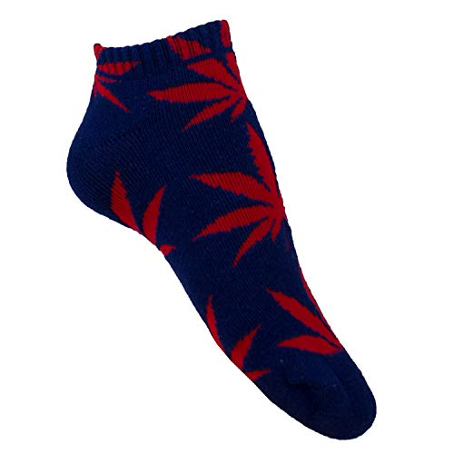 plantlife® Sneaker Socken Halbsocken Hanf Unisex, universelle Größe Farbe: blau/rot