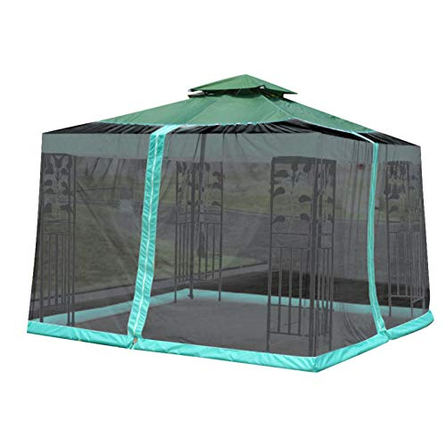 10x10ft Gazebo Canopy Tent with Netting,Gazebo Mesh Side Wall Screen House Tent,Camping Canopy Sun Shade Tent for Outdoor Patio