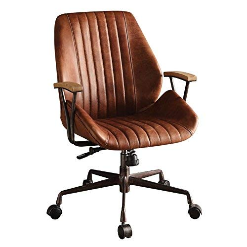 Acme Hamilton Top Grain Leather Office Chair, Cocoa Leather