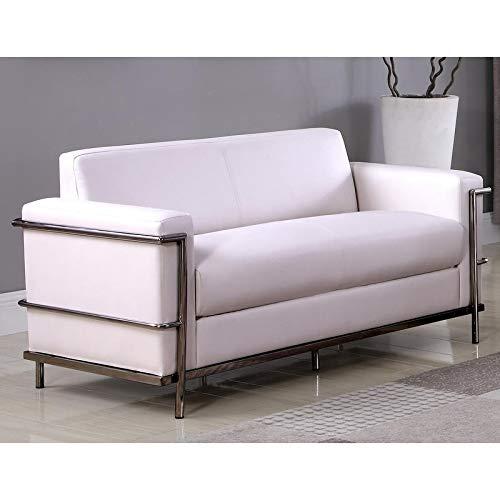 Best Master Furniture Helix Modern Loveseat Off-White