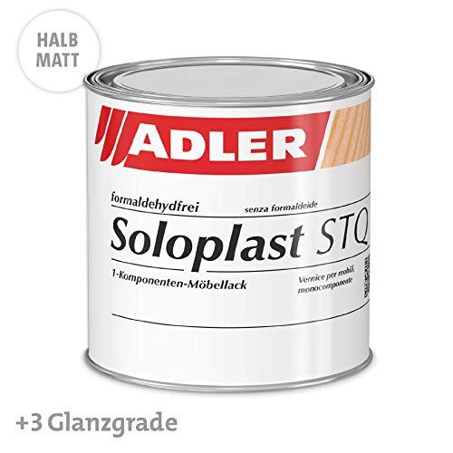 ADLER Soloplast STQ - 750 ml halbmatt - Erstklassiger Klarlack zum Möbel lackieren - Holzlack farblos