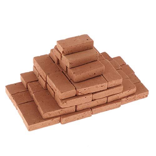 Fenteer 150 Stück 1:16 Scale Ziegel, Steinbaukästen Konstruktionsspielzeug, Ziegelsteine Ministeine Bodenfliesen für Modellbau Landschaften