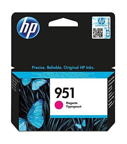 HP 951 CN051AE, Magenta, Cartucho de Tinta Original, de 700 páginas, para impresoras HP Officejet Pro serie 8600, 8100, 251dw y 276sw