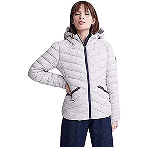 Superdry LS Essentials Helio Padded Jacket Chaqueta, Gris (Grey Marl 07q), XL (Talla del fabricante:16) para Mujer