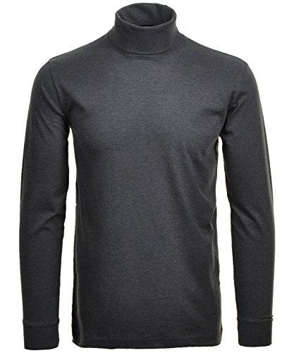 RAGMAN Rollkragen Pullover Baumwoll-Jersey M, Anthrazit-019