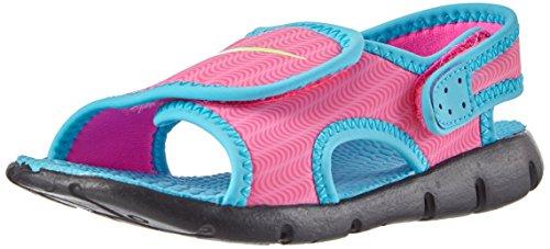 Nike Sunray Adjust 4 (TD) - Sandalias, Niñas, Multicolor (Pink Blast / Ghst Grn-Gmm Bl-Blk), 25