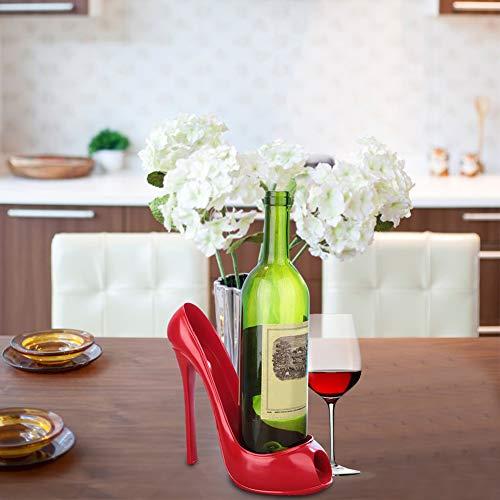 Stilvolle Weinregal High Heel Schuh Weinflaschenhalter Arbeitsplatte Ständer für Hochzeitsfeier Wohnkultur(2 #)