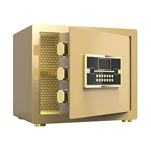 DJDLLZY Caja fuerte de seguridad, caja fuerte, cierre octogonal + sistema antirrobo caja fuerte para documentos de identificación, documentos A4, ordenadores portátiles, joyas 38 x 32 x 30 cm