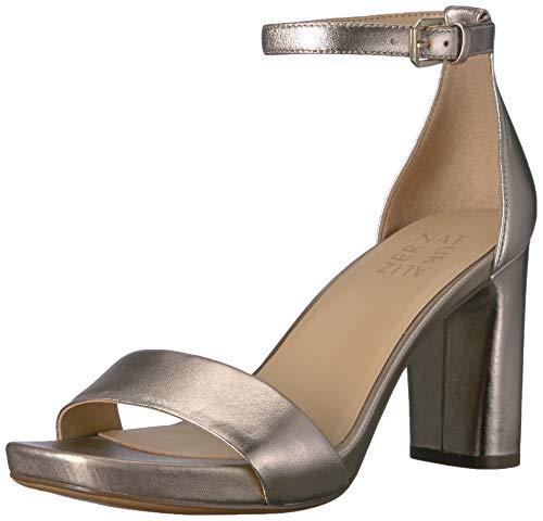 Naturalizer Women's Joy Heeled Sandals, Light Bronze Metallic Leather, 8.5