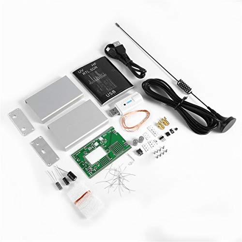 Sylvialuca 100 kHz-1.7GHz Vollband Receiver Software Radio UV HF FM AM RTL-SDR USB-Tuner-Empfänger RTL2832U + R820T + U/V-Antenne DIY-Kits