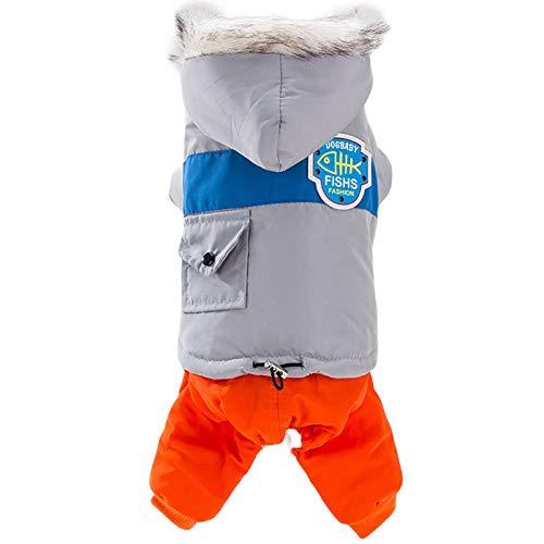 Springisso Hond Kleding Hond Jas Warm Gewatteerde Puffer Huisdier Hond Puppy Kleding Vest voor Kleine Hond Bont Kraag Teddy Beer, XL
