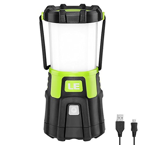 LE Lámpara Camping LED, 1200lm USB Recargable, 4 modos, Intensidad Regulable,...