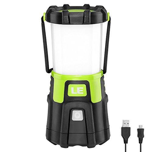 LE Lámpara Camping LED, 1200lm USB Recargable, 4 modos, Intensidad Regulable,...
