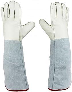 Dos par de sólido 45 cm (13,8 cm) guantes protectores para criogénicas