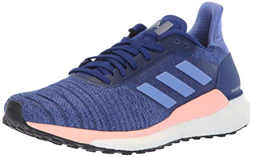 adidas Women's Solar Glide Running Shoe, raw Grey/Real Lilac/Black, 10 M US