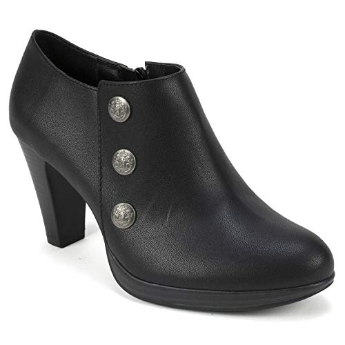 Rialto Women's Penston Size 10 Ankle Boot, Black/Smooth