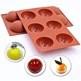 Suplid Silicone Mold 6 Holes Semi Sphere Silicone Mold Large Chocolate Molds Silicone Baking Molds...