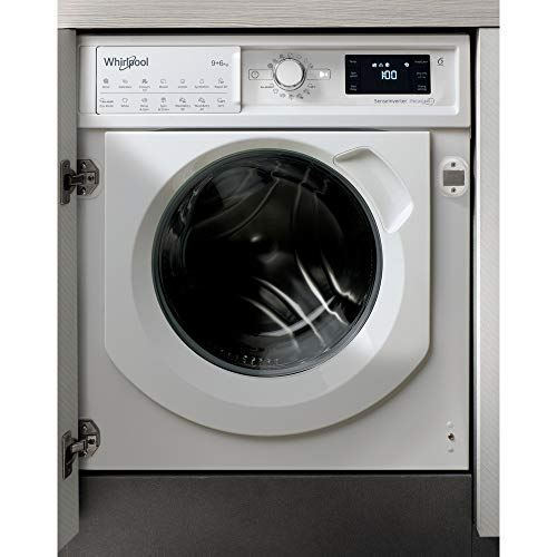 Whirlpool FreshCare BIWDWG961484UK Integrated Washer Dryer, 9/6kg, 1400rpm