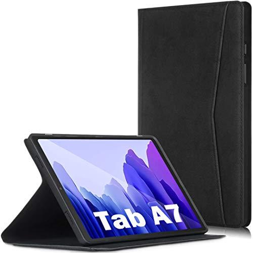 Wineecy Funda para Galaxy Tab A7 10.4 2020, de piel de alta calidad con bolsillo, función de encendido y apagado automático para Samsung Galaxy Tab A7 de 10.4 pulgadas [SM-T500/T505/T507] (negro)