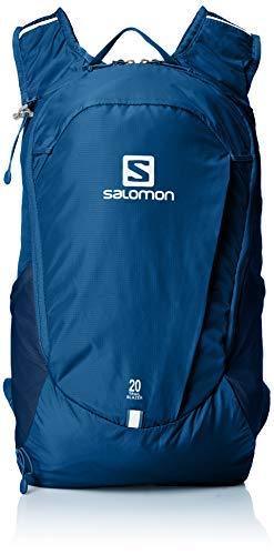 Salomon Trailblazer 20 Mochila Ligera para Senderismo o Ciclismo, 20 L, Unisex Adulto, Azul (Poseidon), Talla única