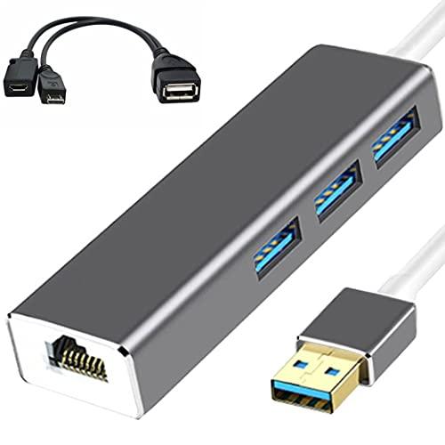 3 USB HUB LAN Ethernet-adapter + OTG USB-KABEL voor FIRE STICK 2ND GEN OF FIRE TV3