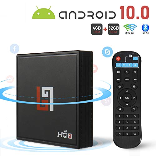 Android 10.0 TV Box Smart Media Box 4GB RAM 32GB ROM H616x64 Quad Core Innovaprise Bluetooth 2.0x3Pcs WiFi 2.4G & 5G Ethernet Set Top Box Support 4K Ultra HD Internet Video Player