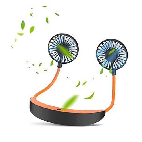 ZLDM Ventilador Portatil, Ventilador Silencioso, BateríA Recargable de 5000 Mah, 4 Velocidades De RotacióN de 360°, Mini Ventilador Usbpara Dispositivos De Verano De Oficina De Viajes