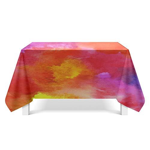 DREAMING-Bunte Textur Kunst Tischdecken Home Esstisch Stoff Tv-Schrank Couchtisch Stoff Runde Tisch Tischset 140cm * 220cm