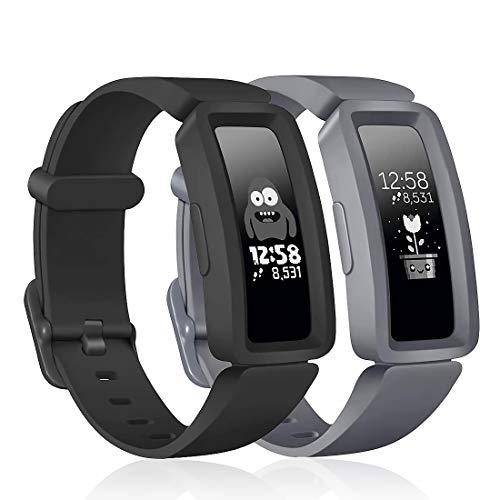 Aveegel Kompatibel mit Fitbit Ace 2 Armband für Kinder ab 6 Jahren, weiches Silikon, wasserdicht, Sport-Bänder, bunte Armbänder für Fitbit Inspire HR & Ace 2, Jungen und Mädchen