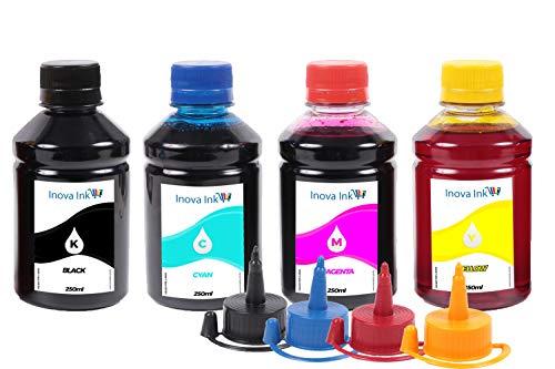 Kit 4 Tintas para HP Deskjet GT 5822   GT51   GT52 250ml Inova Ink