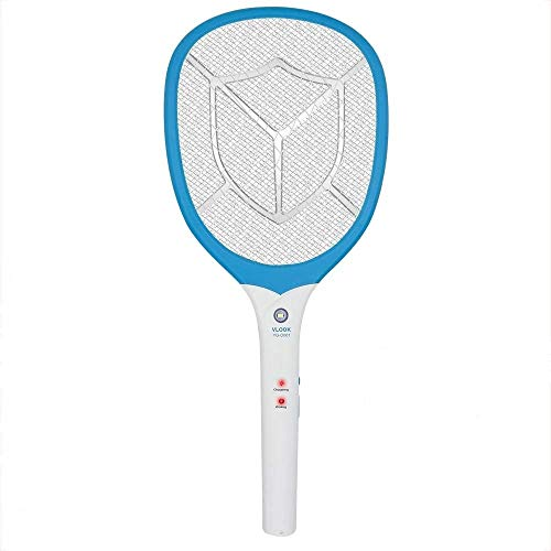 Amshi Electric Zapper Racket, Rechargeable Handheld Large Zapper for Home, Indoor and Outdoor with LED Lighting, Unique 3 Layer Mesh