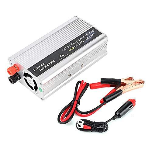 Gorgeri Inversor de energía, 3000W DC 12V/24V a AC Inversor de 100V-120V/220V-240V Convertidor de energía de cargador USB único(Plata)