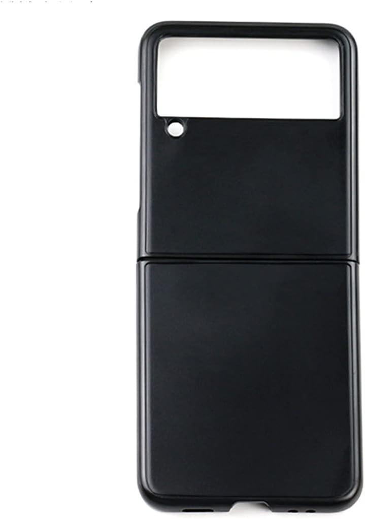 VIESUP for Samsung Galaxy Z Flip3 5G Folding Phone Black Case, Black Luxury Plastic PC Full Protective Anti-Wrestling Back Case for Galaxy Z Flip3 5G 2021 (Black)