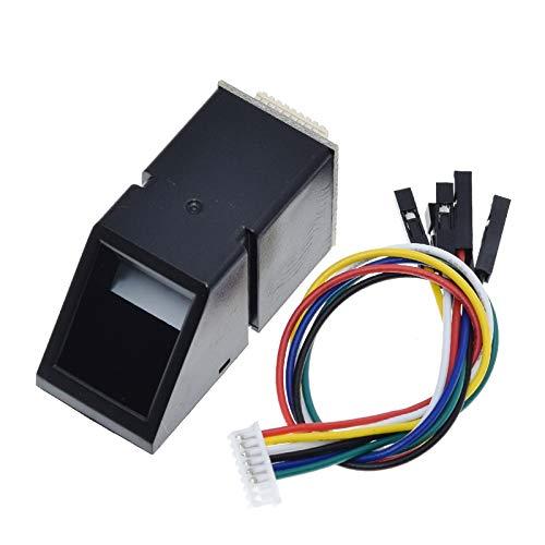 QBLDX Módulo Sensor De Lector De Huellas Dactilares AS608 Módulo óptico De Huellas Dactilares para La Interfaz De Comunicación Serie Arduino Locks