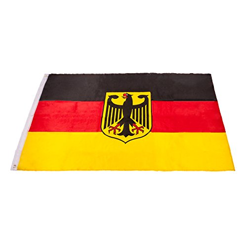 Smartfox Deutschlandfahne Bundesadler Fahne Flagge mit Metallösen in 90 x 150 cm