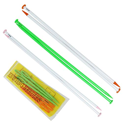KnitPal 16 Inch Extra Long Knitting Needles for Blankets, Set of 3 Plastic Straight Needles with US Sizes 10.75, 11, 13 and eBook