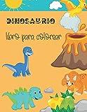 libro para colorear dinosaurio: un regalo ideal para niños y niñas de 4 a 8 años