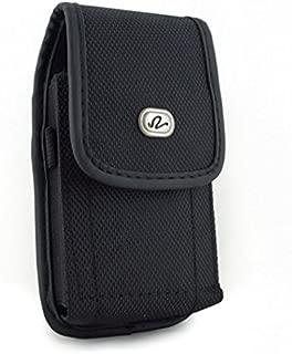 Vertical Heavy Duty Rugged Cargo Belt Clip Canvas Case for T-Mobile Motorola Google Nexus 6 - Tracfone ZTE Quartz - iPhone 6 Plus - iPhone 6S Plus - Verizon Motorola Google Nexus 6