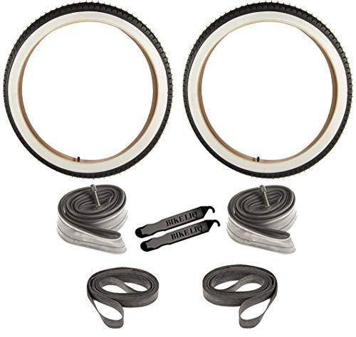 Cruiser Tire Urban Beach Street Wire Bead Durable Bike Tire 24 x 2.125 CST 241 (White Wall)