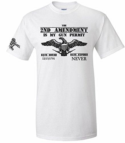 Patriot Apparel Eagle 2nd Amendment T-Shirt (X-Large, White)