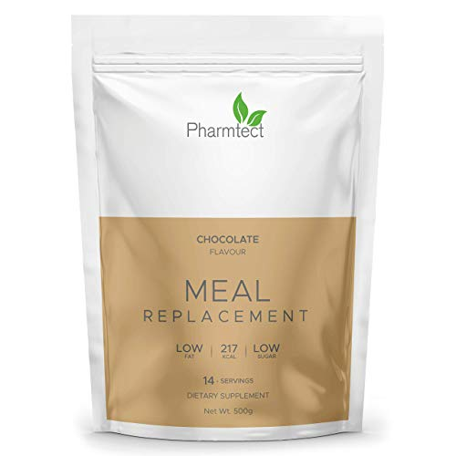 Pharmtect Double Chocolate Meal Replacement Diet Shake - Weight Loss Support & Increase Metabolism - Over 20 Essential Vitamins, Low Calorie & Low Sugar - for Vegetarians UK Made