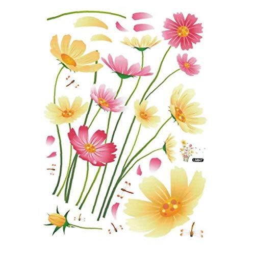linjunddd Chrysanthemum-Wand-Aufkleber-entfernbare Und Leuchtende Farbe Wandaufkleber Für Wohnzimmer-Dekoration - 50x70cm Komfortable Versorgung