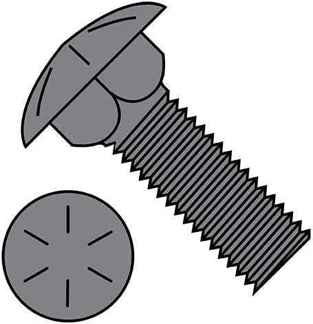1 4-20X1 Free shipping New 3 4 Carriage Bolt Grade Plain cheap Qt 8 Fully Threaded Pack