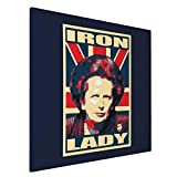 ZJLVMF Canvas Prints Wall Art Paintings20x20in Margaret Thatcher Iron Lady Pictures Home Office Decor Framed Posters & Prints