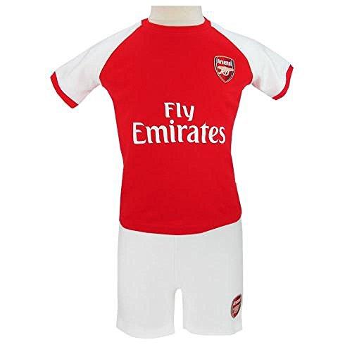 Baby Kleidung–Offizielle Arsenal FC Baby Shirt & Short Set (9–12Monate)–Neuheit Baby Fußball Geschenk Ideen