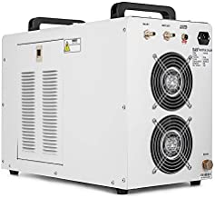 Happybuy Water Chiller CW5000DG 6L Capacity Thermolysis Industrial Water Chiller 800W Cooling Industrial Chiller for 80 to 100W CO2 Glass Tube Energy Saving (6L CW5000DG)
