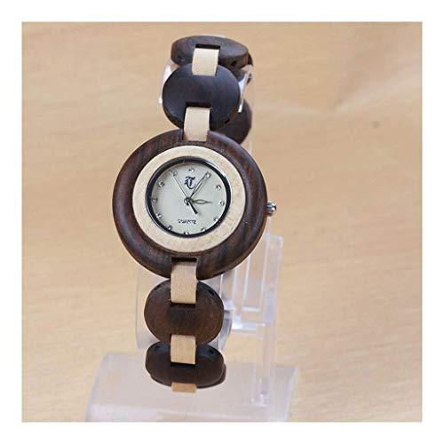 Leyue Pareja Sandalwood Maple Wooden Watch - Industria Retro de la Moda Creativa - Relojes Naturales saludables, amigables con el Medio Ambiente, cálido y romántico (Color (Color : A)