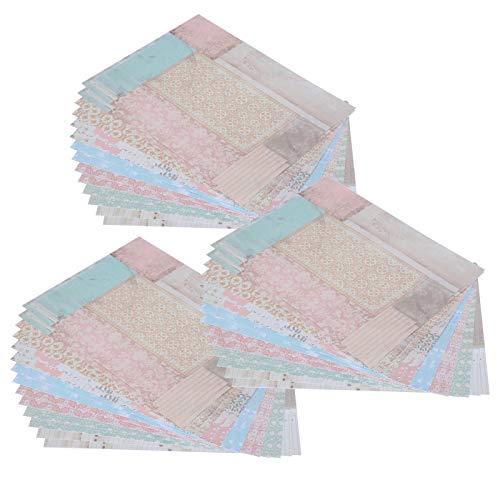 Dekoratives Papier, einzigartiges 42-teiliges DIY-Journal-Dekorpapier, Verpackung für die Dekoration von Handkonten Diy Origami Herstellung handgefertigter Grußkarten