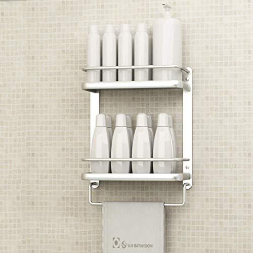 MENG Badregal Shelf Schlags-Free Space Aluminium Badezimmer Küche Rack-Badezimmer-Anhänger Badezimmer-Rack Handtuchwärmer Durable (Größe: 34 * 15 * 42cm), Größe: 53 * 15 * 42cm Duschraum Sims